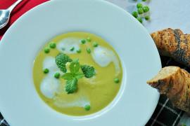 Zupa krem z mrożonego GROSZKU