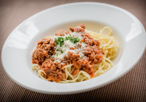 Spaghetti bolognese z tabasco