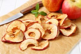 Chipsy jabłkowe z cynamonem i imbirem