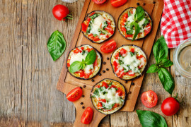 Bakłażanowe mini pizze