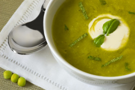 Zupa szpinakowa z ziemniakami