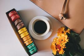 Delikatna kawa z czekoladą