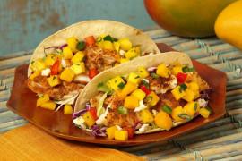 TACOS z kurczakiem i mango