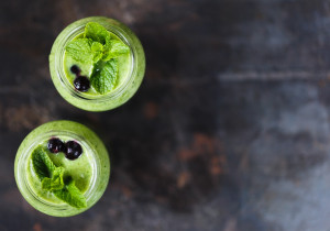 Zielone smoothie z miętą i ogórkiem
