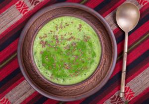 Bazyliowa zupa z cukinią