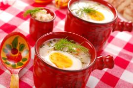 Kremowa zupa chrzanowa z ziemniakami