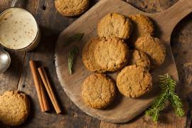 Kruche ciasteczka z cynamonem i kurkumą