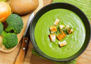 Zupa z brokuła, pora i ziemniaków