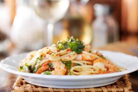 Makaron spaghetti z krewetkami – szybki i prosty obiad