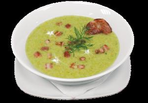 Zupa brokułowa z boczkiem