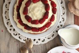 Malonowa chmurka – przepis na letnie ciasto.