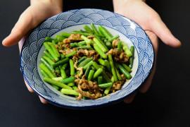 Obiad w 20 minut- FASOLKA SZPARAGOWA PLUS MIĘSO MIELONE