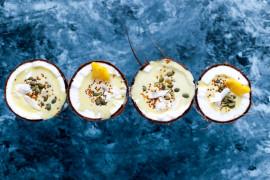 Alkoholowe smoothie w kokosie – idealne na przyjęcie!
