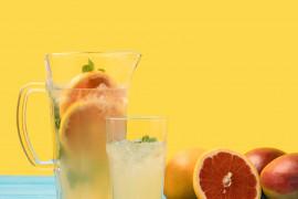 Lemoniada z cytryną i grejpfrutem