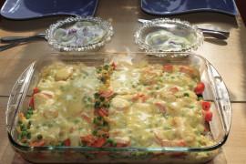 Zapiekanka z ciecierzycą i warzywami