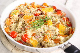 Sałatka z kuskusem, pomidorami i pomarańczą