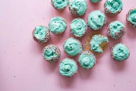 Niebieski krem do ciastek, ciasteczek, muffinów