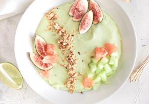 Zielony mus śniadaniowy z FIGAMI