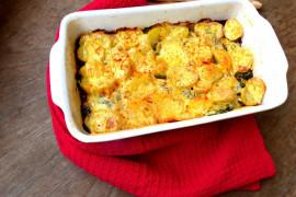 Błyskawiczna zapiekanka z ziemniaków, sera i szpinaku!