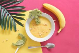 Śniadanie dla niejadków: koktajl bananowo- kokosowy