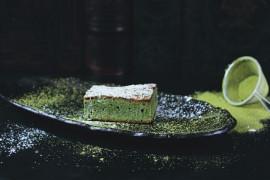 Zielony biszkopt na słodko
