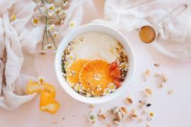 Kremowa jaglanka z pomarańczą