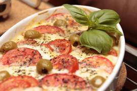 Pomidorowa lazania z serem