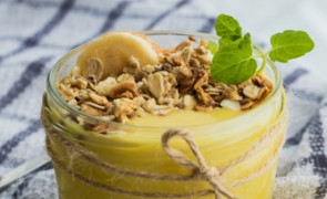 Krem z dyni na słodko z bananami i serkiem mascarpone