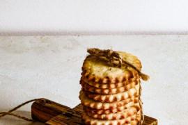 Kruche ciasteczka ze skórką mandarynek