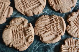 Wegańskie ciasteczka z masłem orzechowym